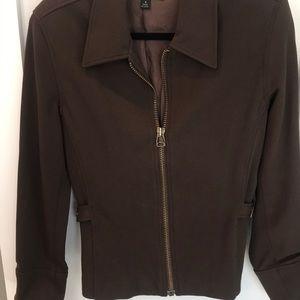 Gorgeous Brown fitted jacket size 4 Karen Kane